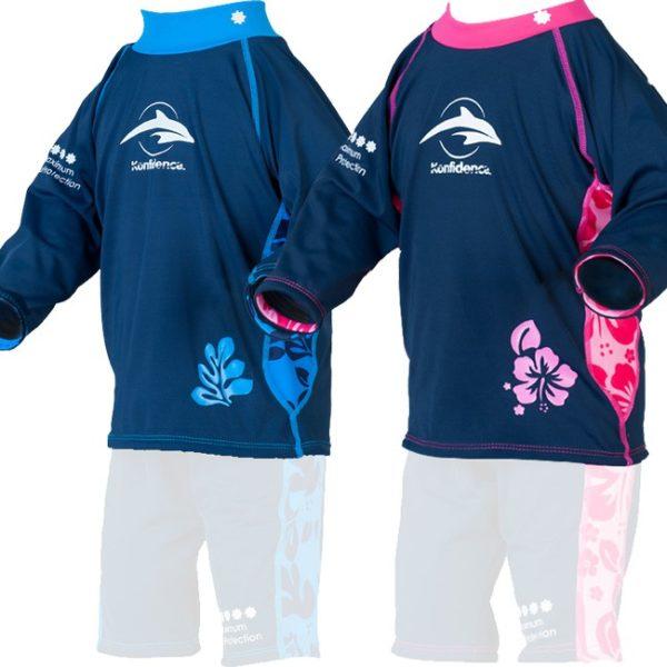 uv majica za otroke konfidence, plavalna majica za otroke